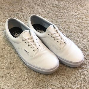 Vans Shoes - Vans All-Leather Era Classic Tumble True White